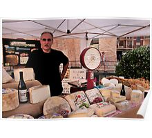 Cheese Stand Market Day in Alba, Piedmont Poster