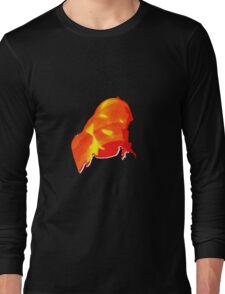Flaming Head Long Sleeve T-Shirt