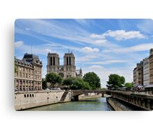 Parisian View Seine River Canvas Print