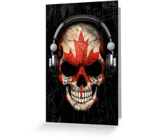 Dj Skull with Canadian Flag Greeting Card