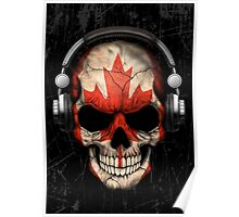 Dj Skull with Canadian Flag Poster