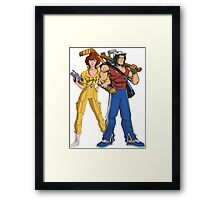 HIT IN THE FACE, RECORD THE ILLEGALITY, AND LOVE EACH OTHER. Framed Print