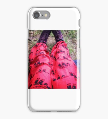 red elephant hippie pants iPhone Case/Skin