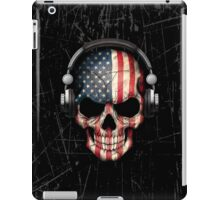 Dj Skull with American Flag iPad Case/Skin
