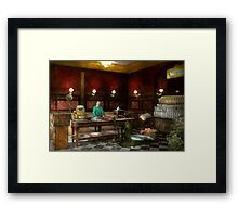 STORE - FISH - C. Lindenberg Hollieferont, Fish store, Berlin, Germany 1895 Framed Print