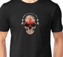 Dj Skull with Canadian Flag Unisex T-Shirt