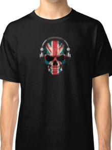 Dj Skull with British Flag Classic T-Shirt