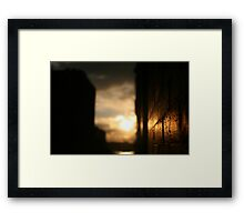sunset bricks Framed Print