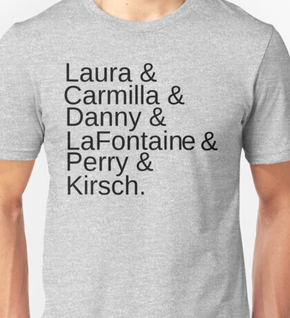 Carmilla Characters Unisex T-Shirt