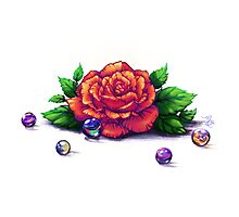 Remember the Roses and Marbles Photographic Print
