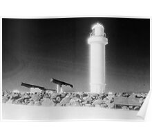 Lighthouse and Canon on Flagstaff Hill Poster