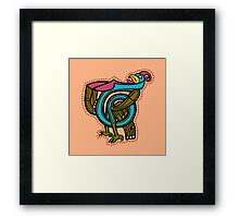 T is for Turkey Framed Print