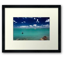 Fishing In Paradise Framed Print