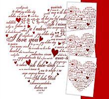 Red Words of Love Designer Art by innocentorigina