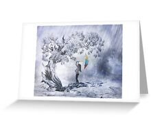 Frolicking In The Rain Greeting Card