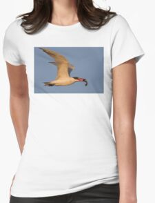 Royal Tern with Fish Womens Fitted T-Shirt