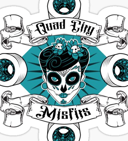 Quad City Misfits Sticker
