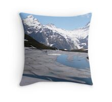 Bachalpensee with Fiescherhornen in the background, Switzerland Throw Pillow