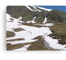 Hiking in Switzerland Canvas Print