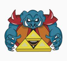 """Ganon's Triforce"" Kids Tee"