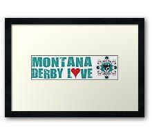 Montana Derby Love Framed Print