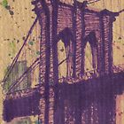 brooklyn bridge in my color by purplestgirl