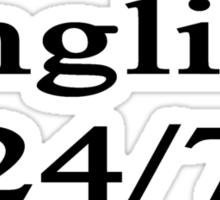 English 24/7  Sticker