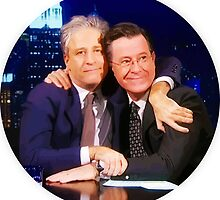 Stewart and Colbert by ador