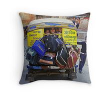 School Childs in Tuk Tuk - India Throw Pillow