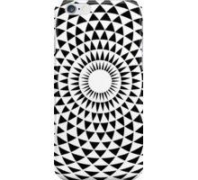 White Geometric eye  iPhone Case/Skin