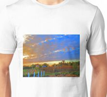 Sunset On The Country Farm During Autumn Harvest Unisex T-Shirt