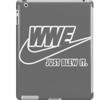 WWE Just Blew It. (White Outline) iPad Case/Skin
