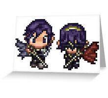 Pixel Chrom and Lucina (Marth) - Fire Emblem : Awakening Greeting Card