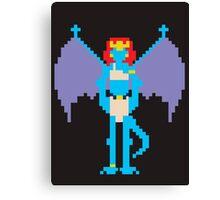 Pixel Demona Canvas Print