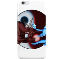 Fire and Ice Dragons Design  iPhone Case/Skin