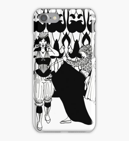 lady with corset iPhone Case/Skin