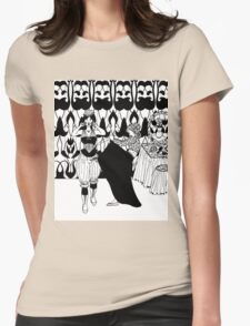 lady with corset Womens Fitted T-Shirt