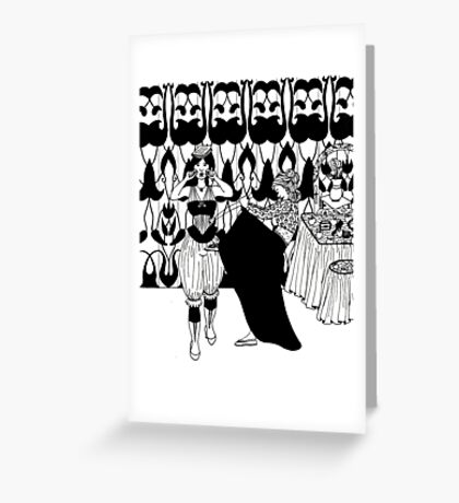 lady with corset Greeting Card