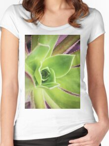 Succulent close up Women's Fitted Scoop T-Shirt