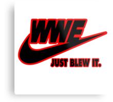 WWE Just Blew It. (Red Outline, Black Inside) Metal Print