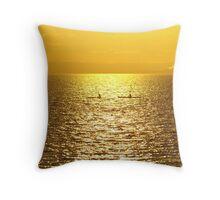 Golden paddles Throw Pillow