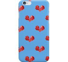 Broken Paper Heart v2 Tiled iPhone Case/Skin