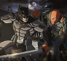 batman vs deathstroke by Shamserg