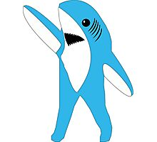 Left Shark Super Bowl Half Time Dancing Shark 2015 Photographic Print