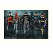 Batfamily Art Print