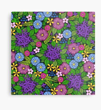 Wild Wildflowers Metal Print