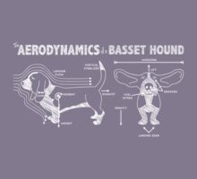 The Aerodynamics of a Basset Hound Kids Tee
