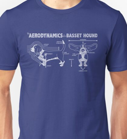 The Aerodynamics of a Basset Hound Unisex T-Shirt