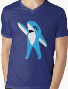 Left Shark Super Bowl Half Time Dancing Shark 2015 Mens V-Neck T-Shirt