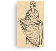 sculpture of woman in wet drapery Canvas Print